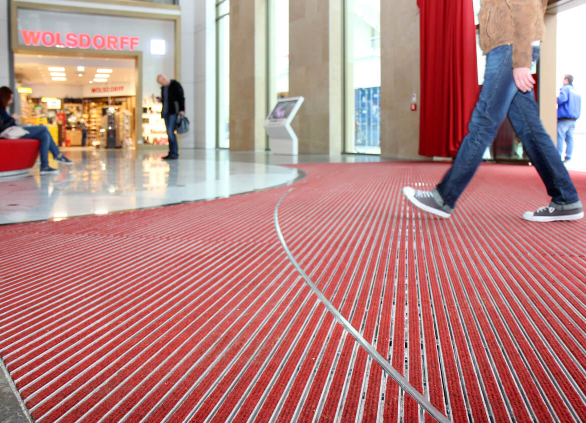 Palais-Vest in Recklinghausen, red entrance mat